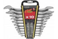10db-os villáskulcs készlet 6-32 mm